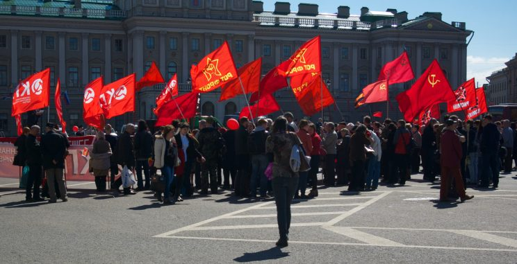 Communist demostration in St. Petersburg