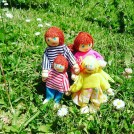 AFFORDABLE WOODEN DOLL FAMILY