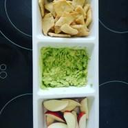 Smashed avocado dip and home made crackers