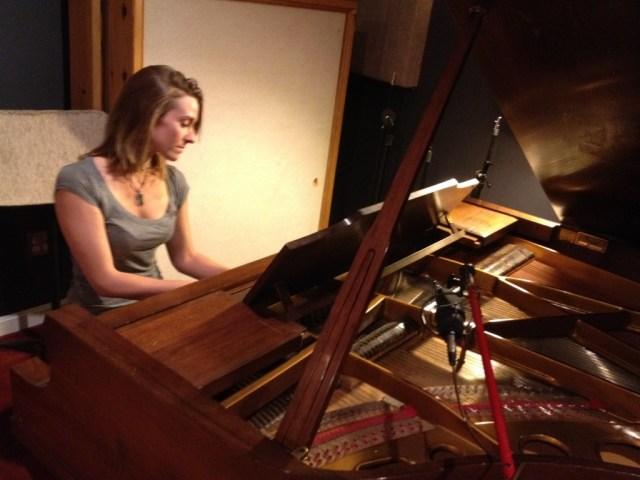 Lauren playing the piano