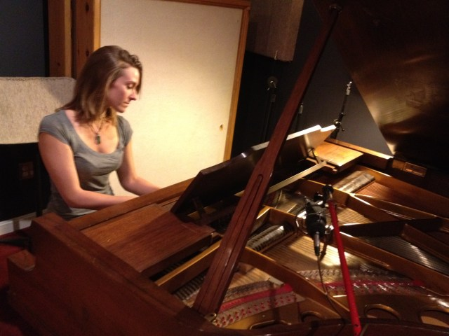 Lauren playing the piano