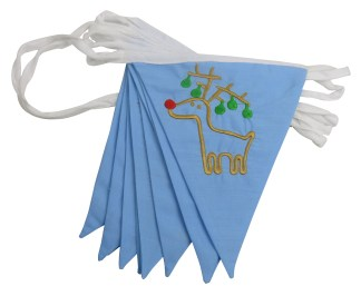 Rudolph the Red nosed Reindeer Bunting Banner Garland Hanging Decoration Double sided Fabric Bunting