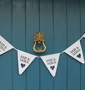 Mr and Mrs White Wedding Bunting