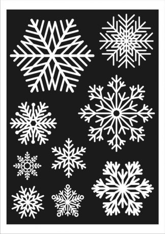 27 Large Snowflake Window Decoration Clings Christmas Stickers