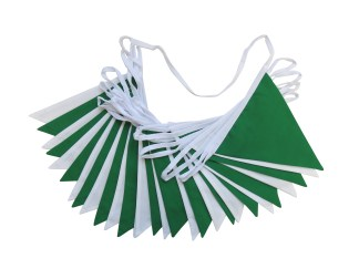 Double Sided St Patrick's Day Bunting – Green and White Bunting