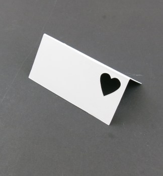 Name Place Card with Love Heart Cut Out