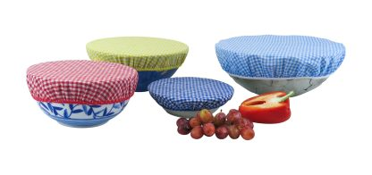 Eco Friendly Gingham Bowl Covers Plastic Free Living Food Storage Solution
