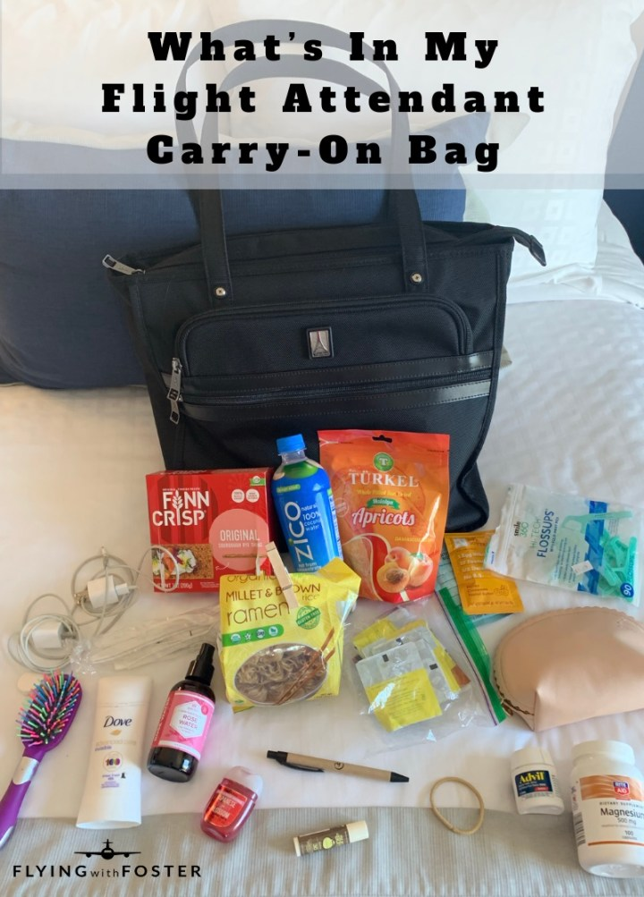 What's In My Flight Attendant Carry-On Bag