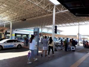 釜山の空港出口