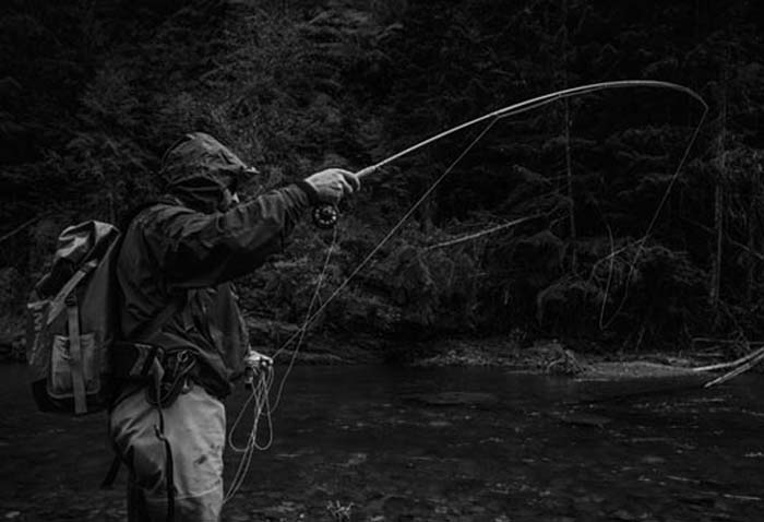 Image result for Photos of trout fishing in the rain