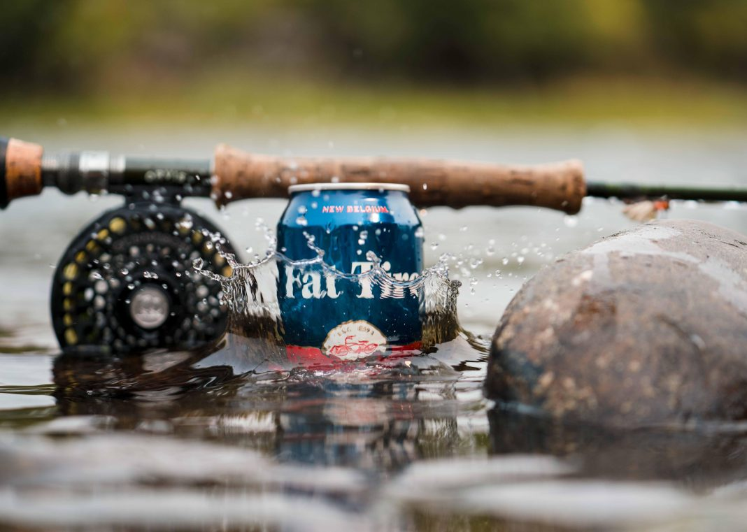 fat tire splashing in the water