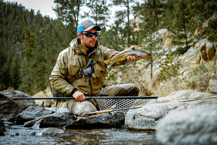 An angler enjoys a day in Deckers, fly fishing in the South Platte River