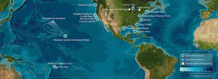 National Marine Sanctuaries Map
