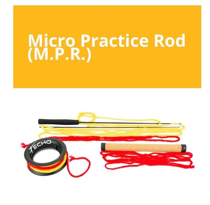 Echo practice rod