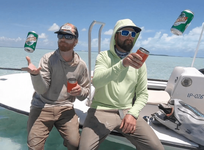 beers on the boat
