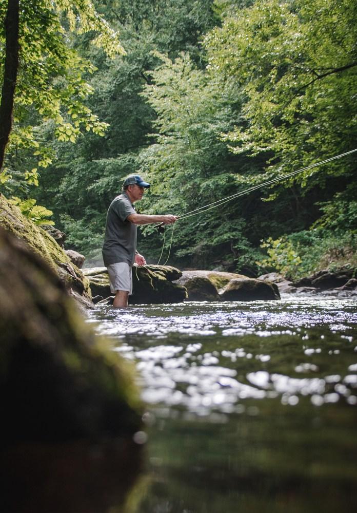 Fishing a deep nymph rig through a juicy tailwater run