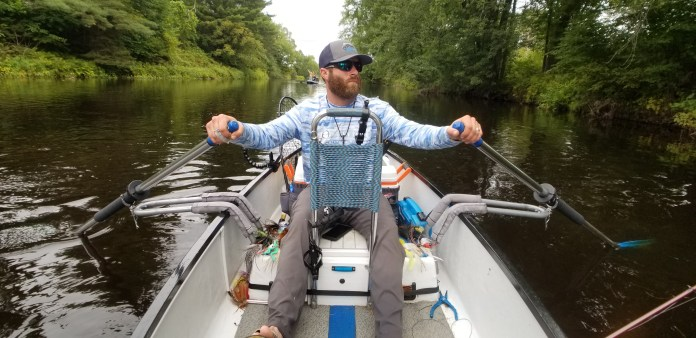 david rowing the boat