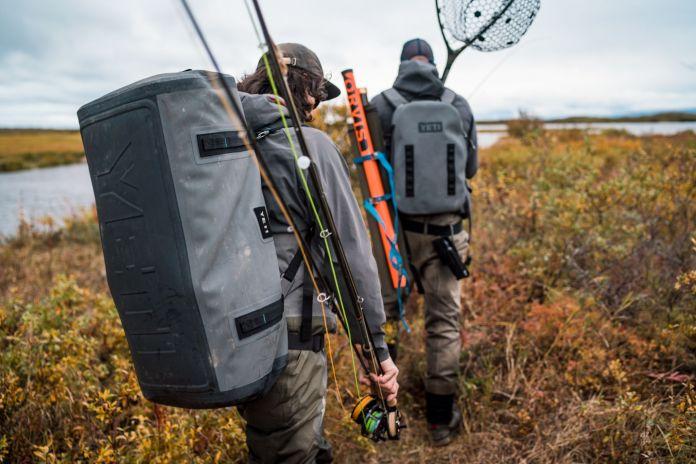 walking through alaska with gear