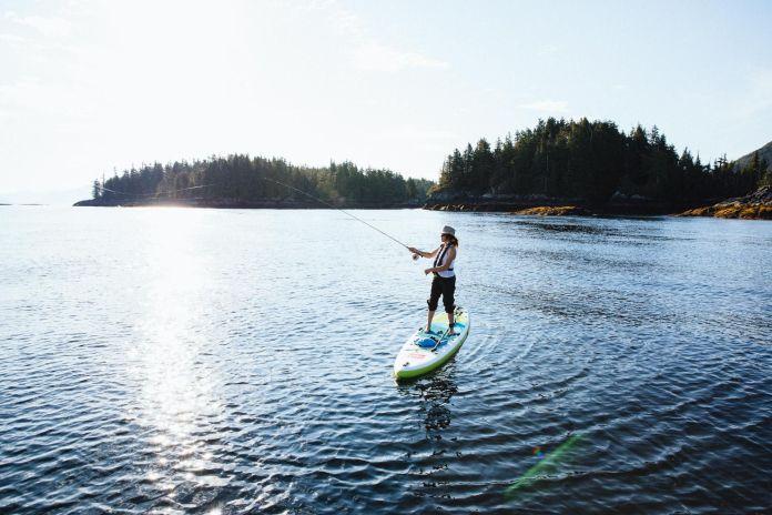 paddleboard fly fishing