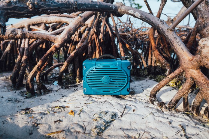 speaker in the sand