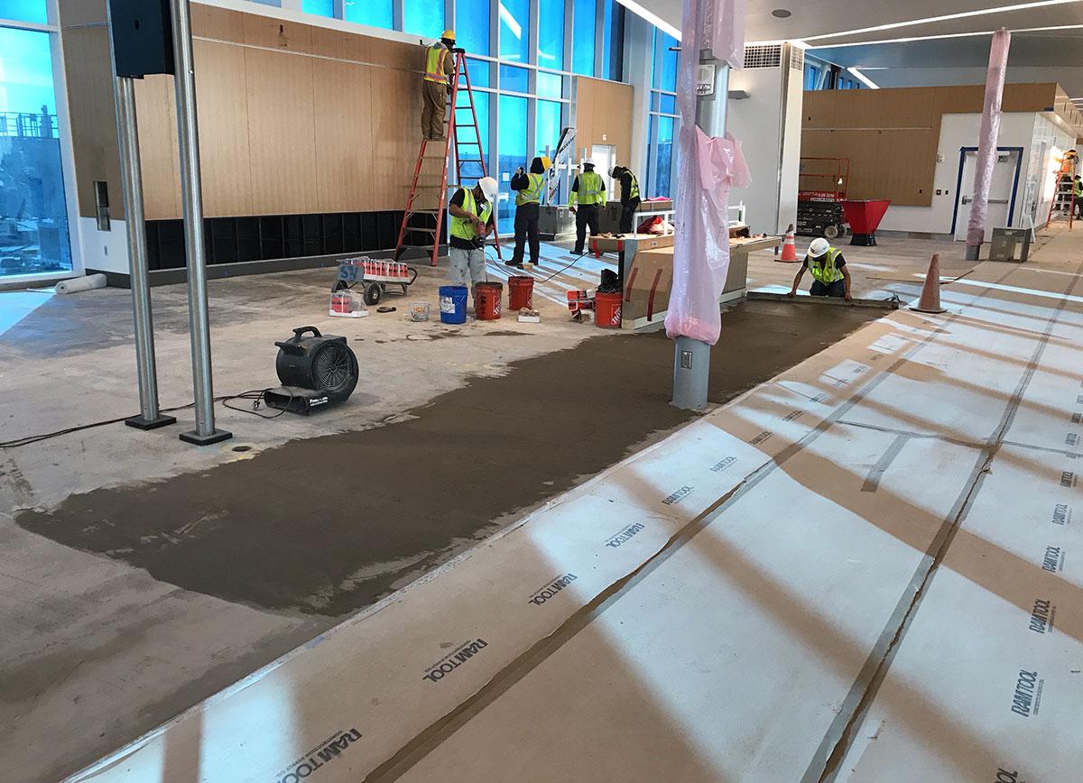 B Concourse Modernization Interior - Feb 2021