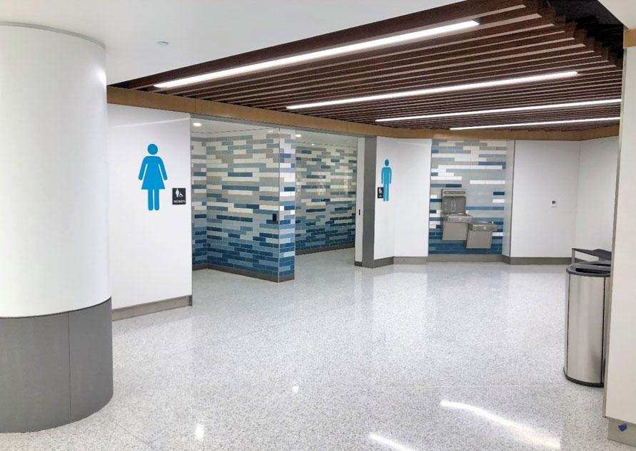 May 2021 B Concourse Restroom