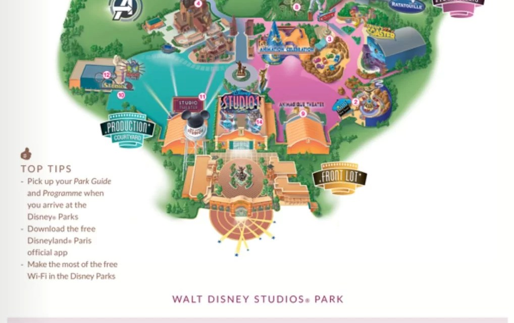 Walt Disney Studios Map
