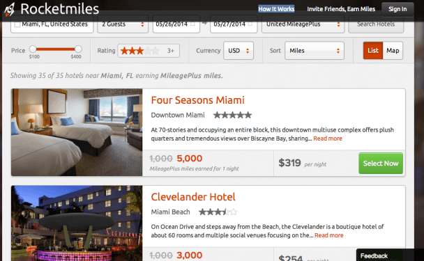 Random hotel search in Miami - Earn up to 5k per night!