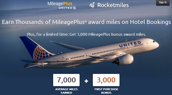 Rocketmiles – Earning Airline Reward Points for Hotel Stays & 100,000 United MileagePlus Sweepstakes Entry!