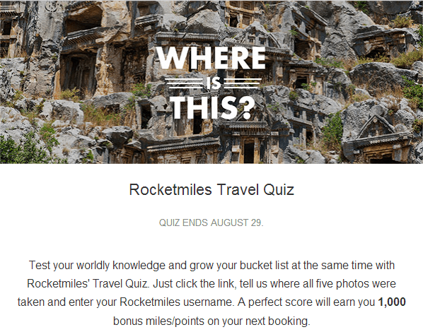1,000 Free Points from RocketMiles!