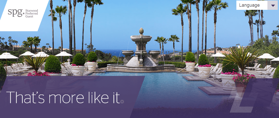 Earn Double or Triple Points at SPG Hotels