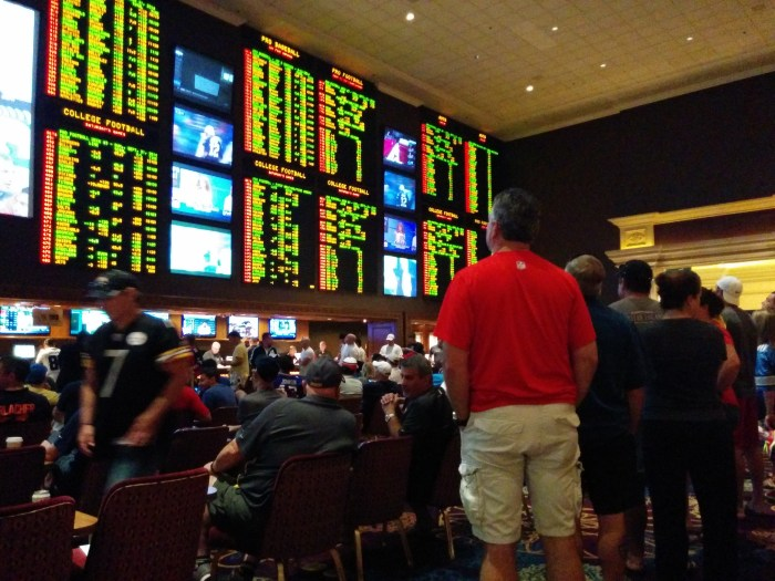 The sports book at Mandalay Bay