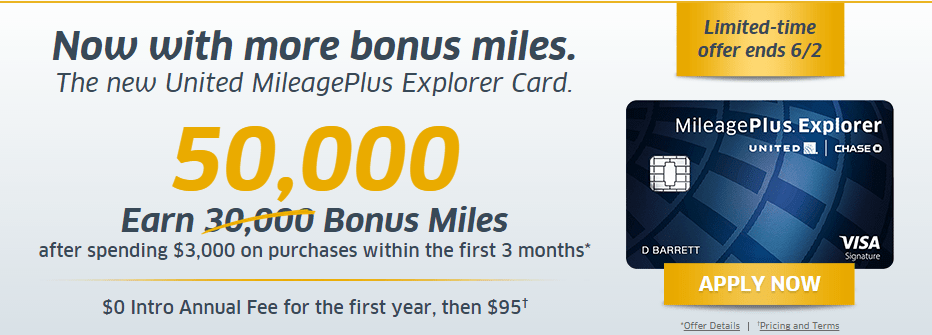 One More Day for United MileagePlus 55,000 Point Bonus!
