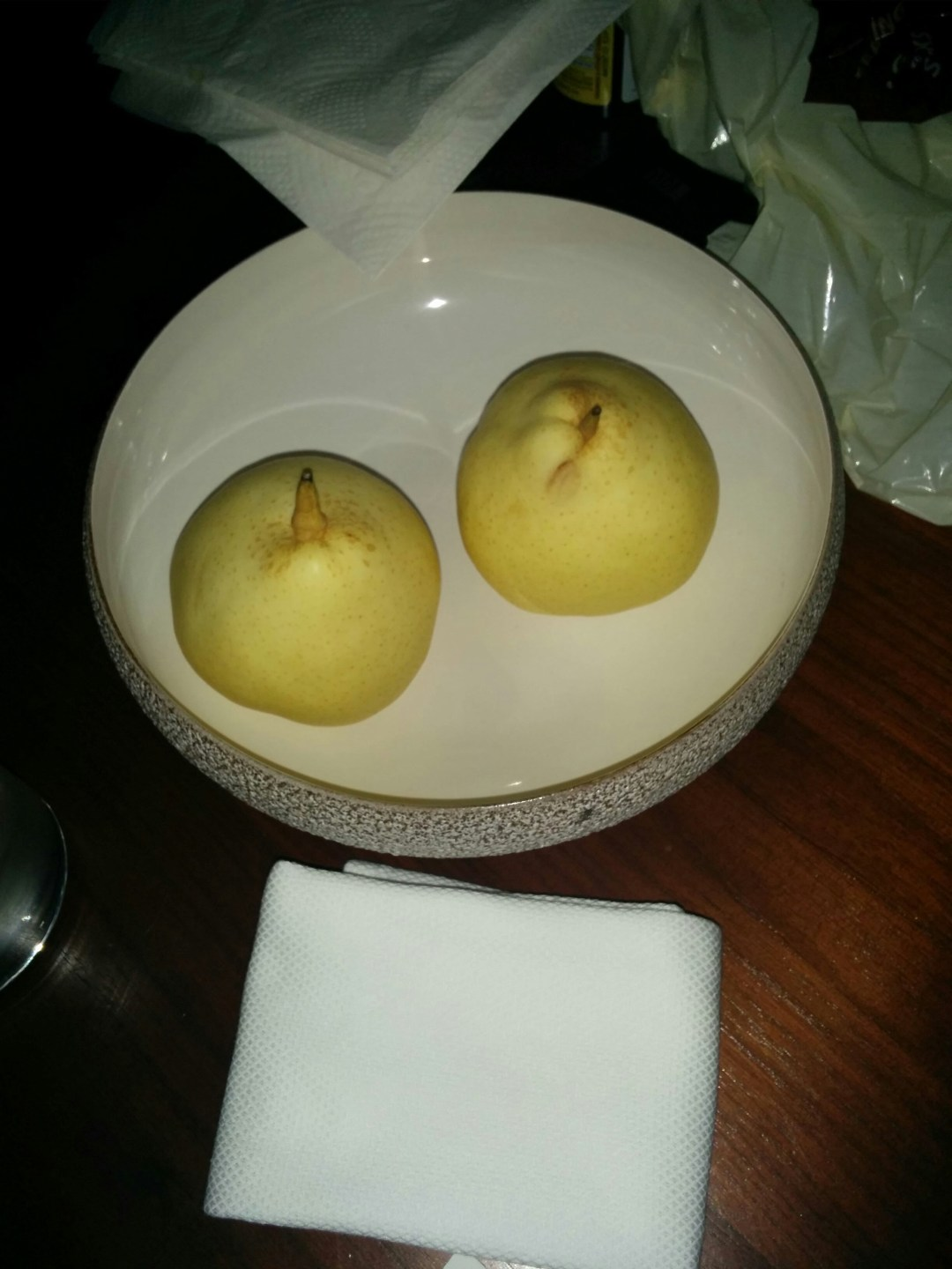 Asian pears - they were amazing!