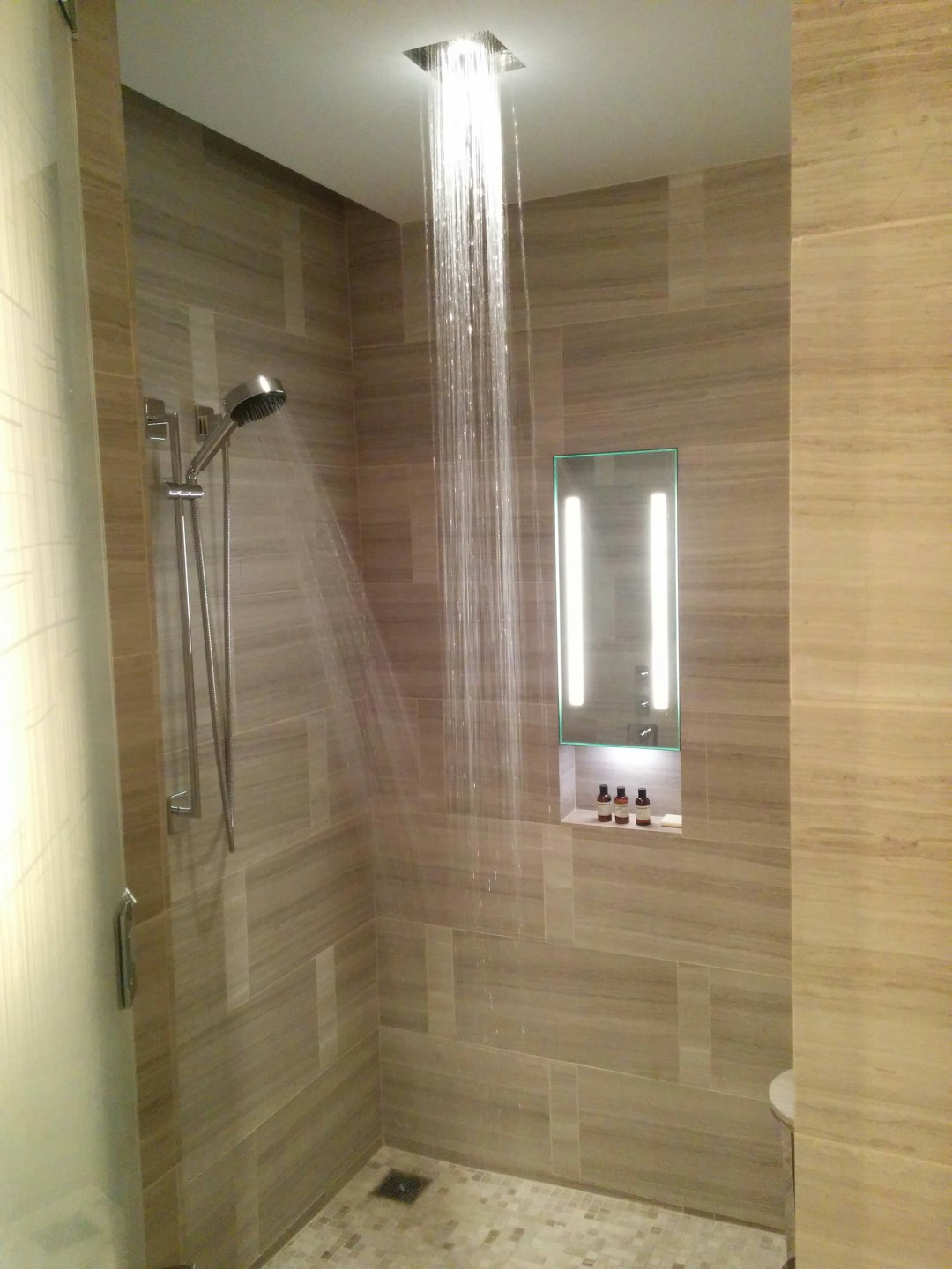 Cascading shower
