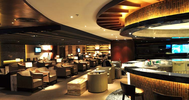 The Plaza Premium Lounge in Hong Kong - Part of the Priority Pass Network
