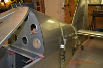 Side view of the turtledeck aft skin template
