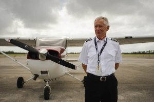 flight school instructor portrait