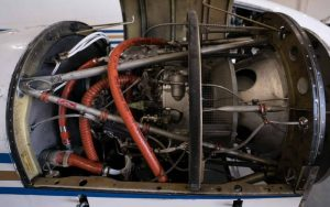 airplane engine compartment detail