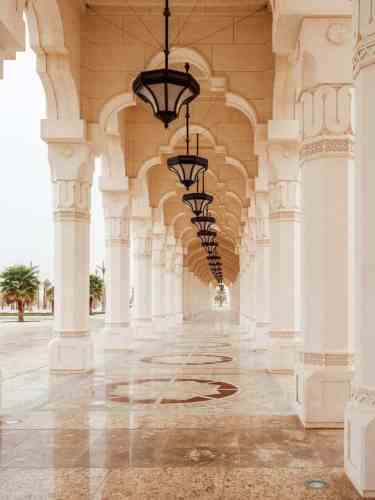Hallway at the Abu Dhabi Presidential Palace