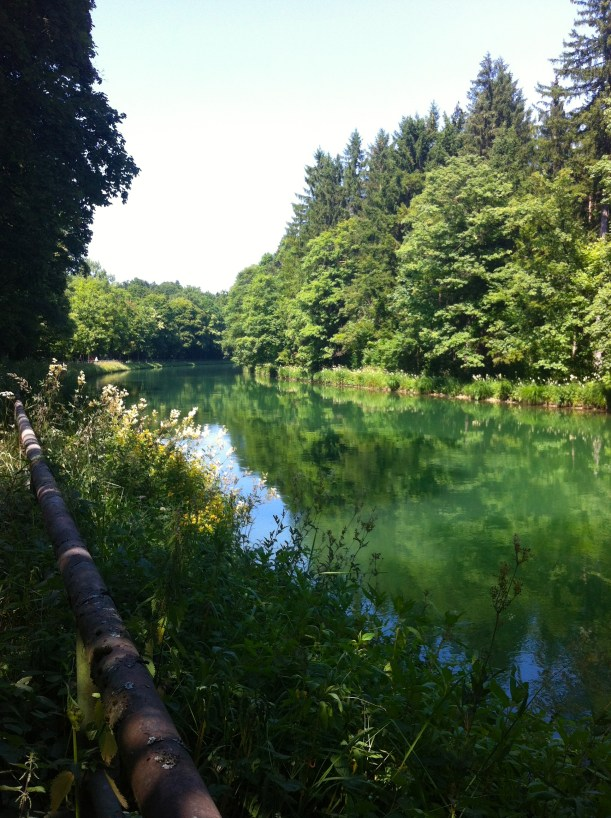 The Isar canal in spring