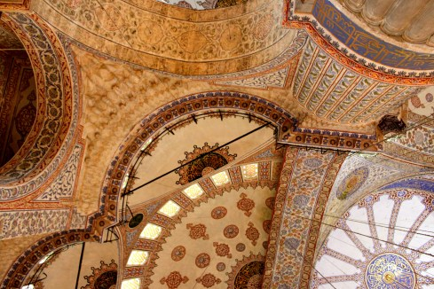 Mosaics in the Blue Mosque