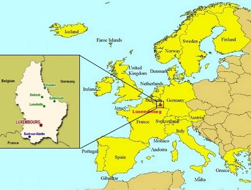 lux mapa en europa