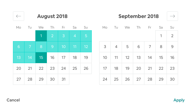Airbnb Dates Filter