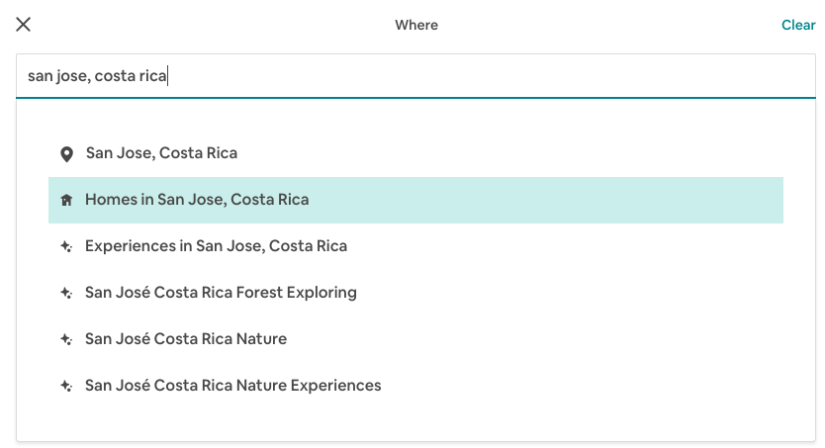 San Jose Costa Rica Airbnb Search