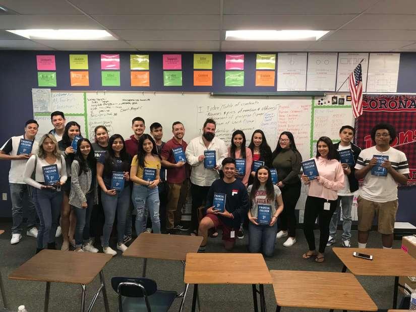 Financial Freedom Book Tour Coronado High School