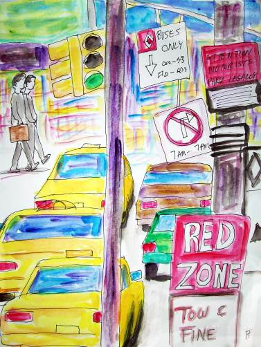 forrest_city_life_traffic_signs_ink_watercolor_2016