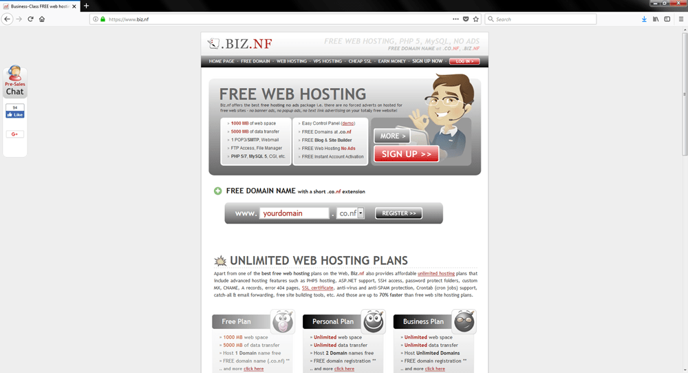 Top 26 Free Website Hosting