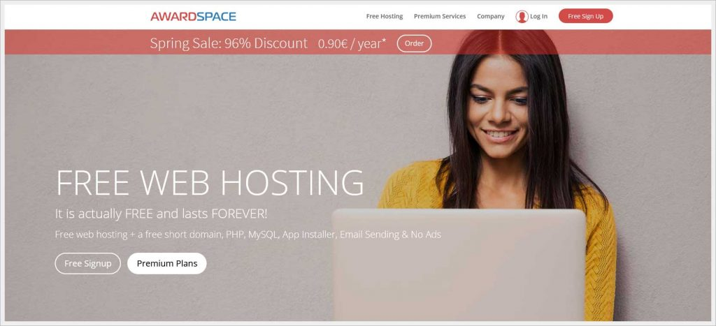 AwardSpace.com - free wordpress hosting