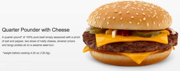 McDonald's quietly changes its Quarter Pounder size
